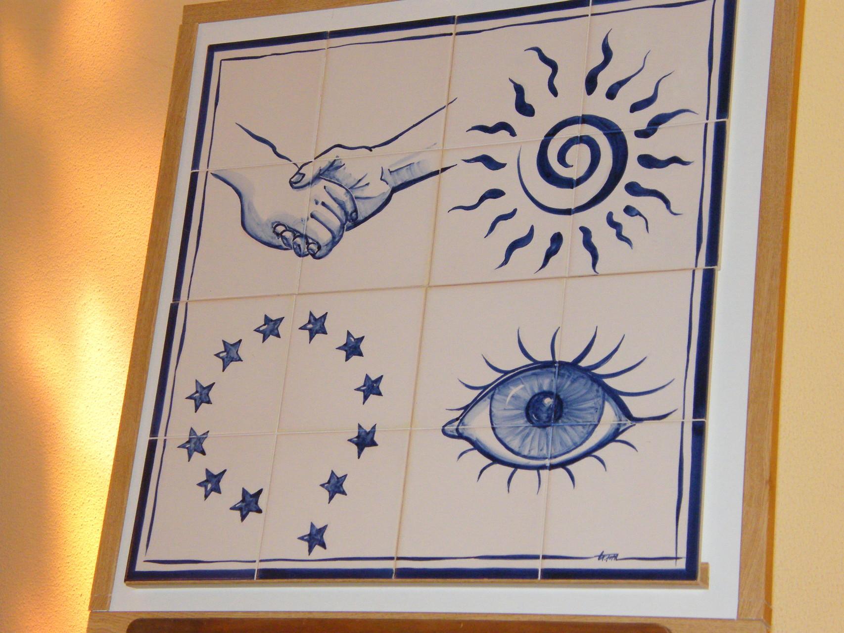 Die azulejos wurden extra angefertigt.
