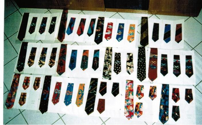 Cartella colori e tipo del campionario cravatte Tino Cosma