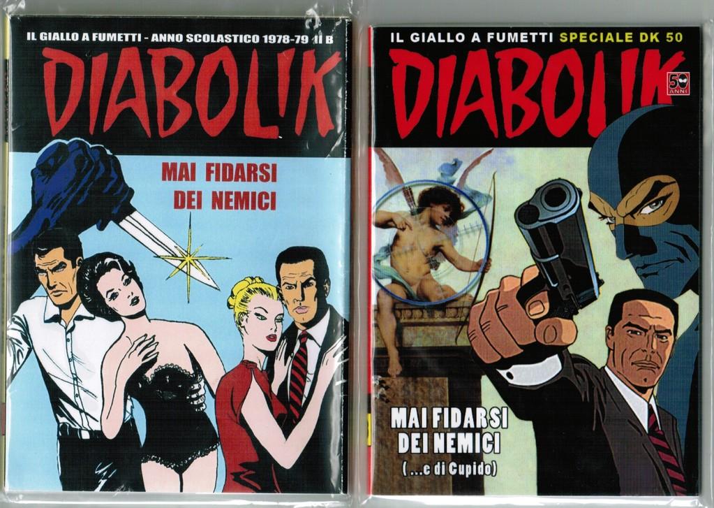 Le copertine delle due edizioni a confronto