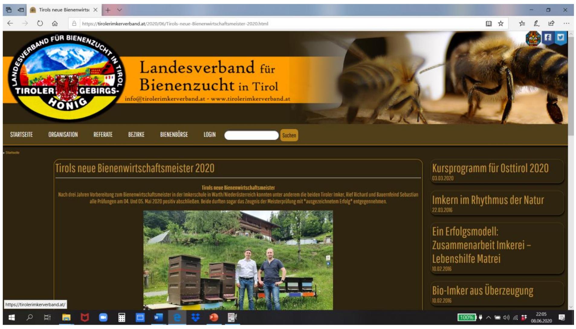 Tiroler Landesverband Juni 2020