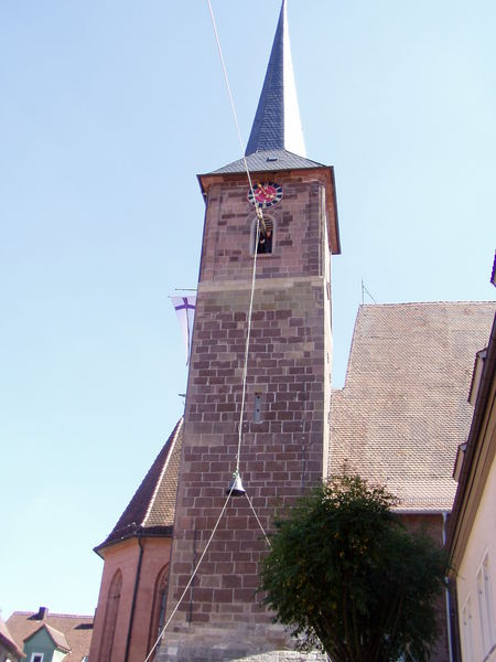 Glockenturm der Spitalkirche Bad Windsheim