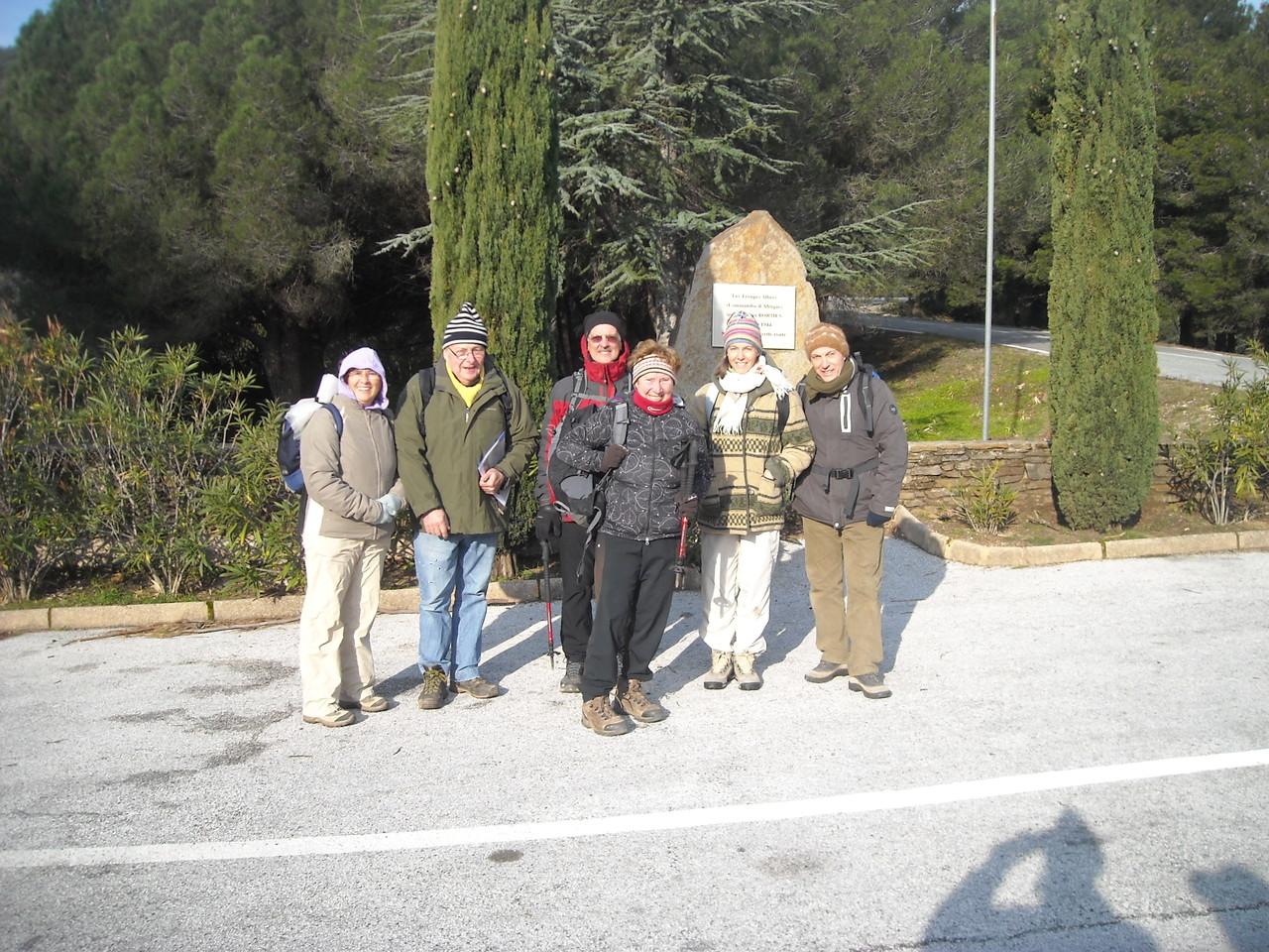Le groupe au complet photographié par les gendarmes de Bormes