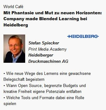 Vorstellung des Blended Learning Konzeptes auf dem E-Learning Summit in Stuttgart