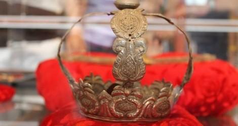 Una de las coronas de la Virgen de Cupilco