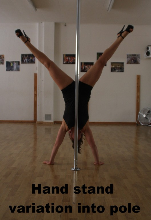 Hand stand variation (facing pole)