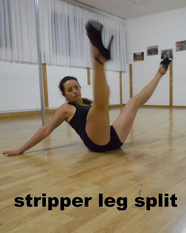 stripper legs split