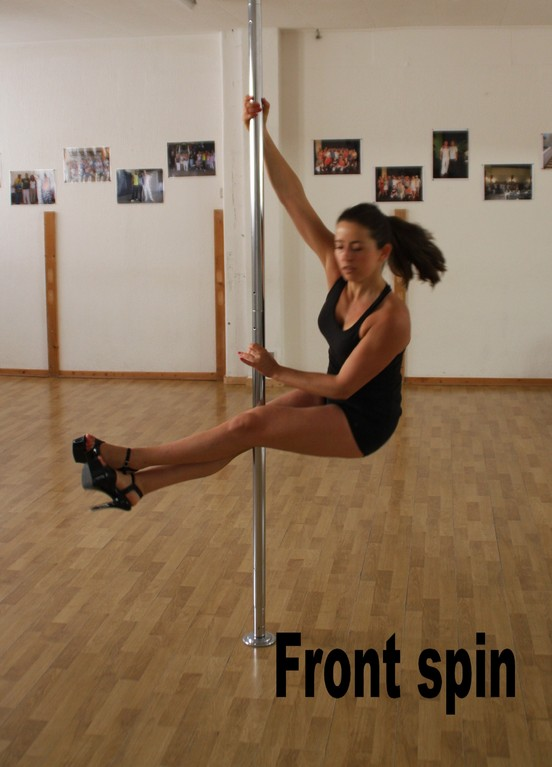 front spin / fireman legs extension /