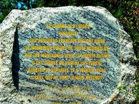 Stèle des Evadés de France / Pyrénées Exploration