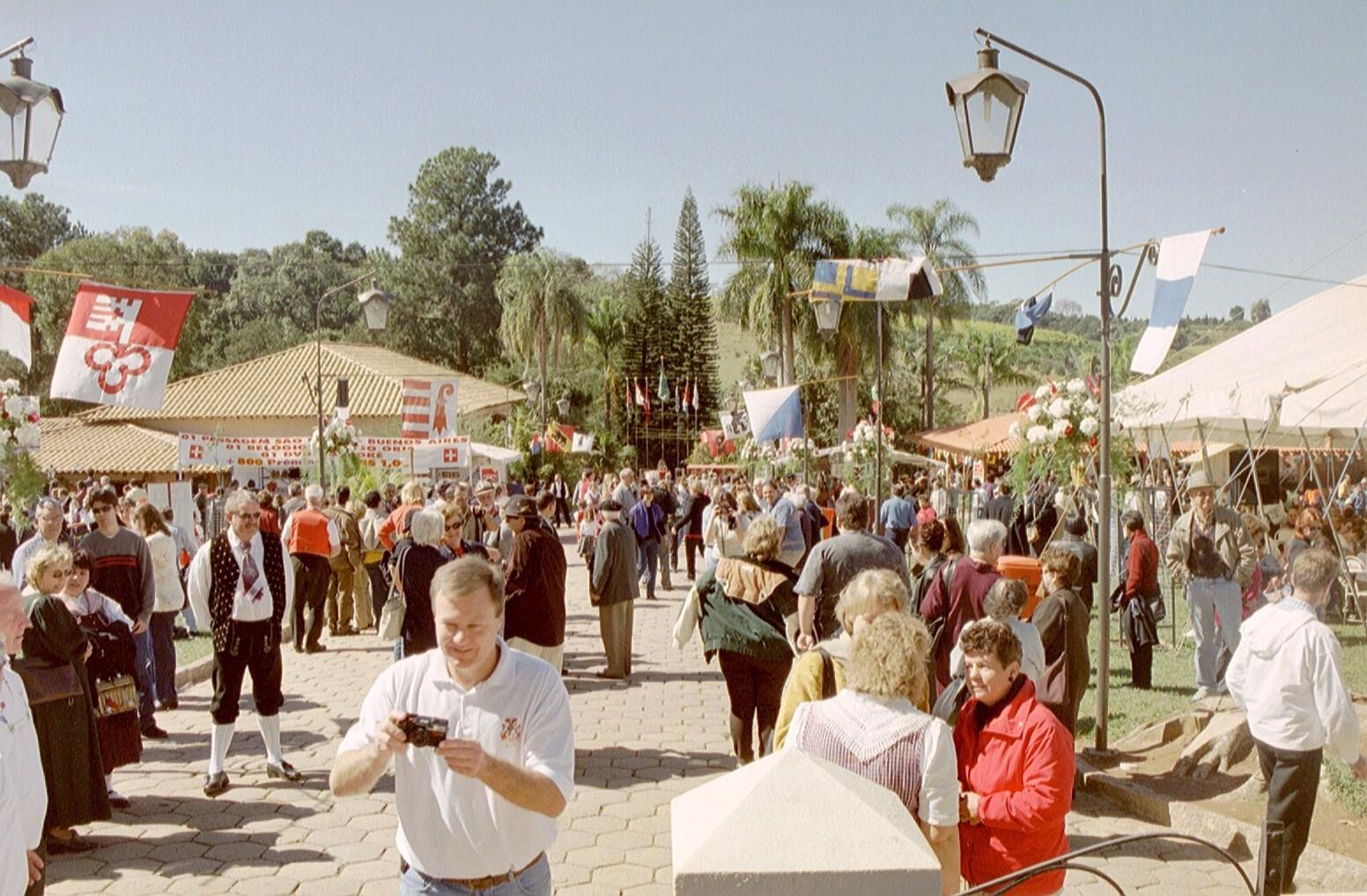 Für den 1. August wurde der Dorfplatz herausgeputzt