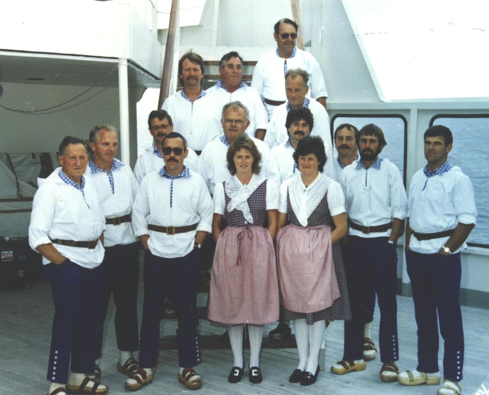 Auf der Mittelmeerkreuzfahrt 1989