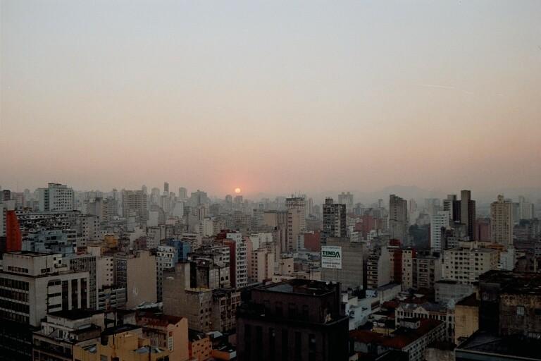 Zum Abschluss ein Sonnenuntergang in Sao Paulo