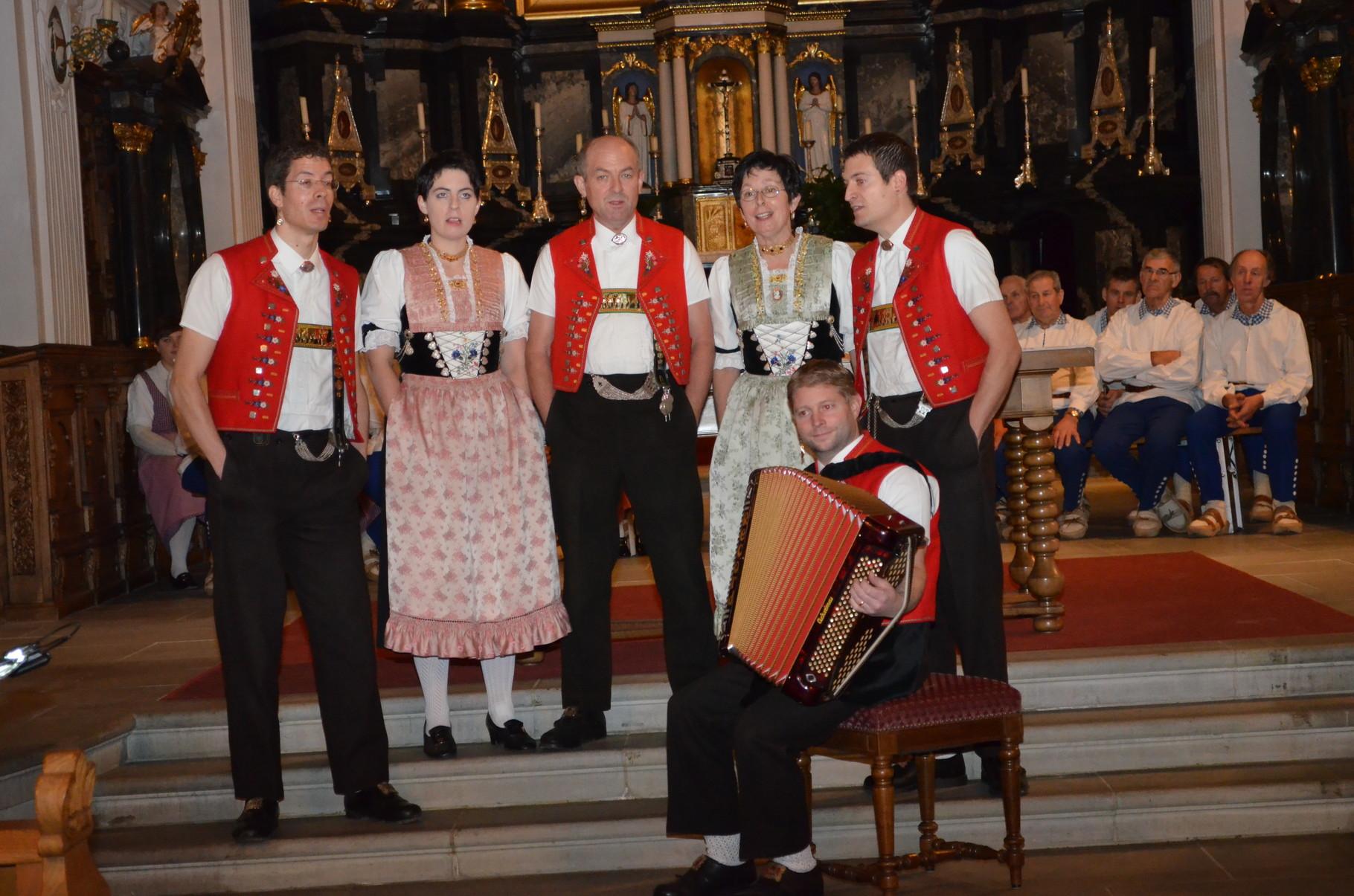 Das Konzert wurde durch die Jodlergruppe Hirschberg aus Appenzell verstärkt