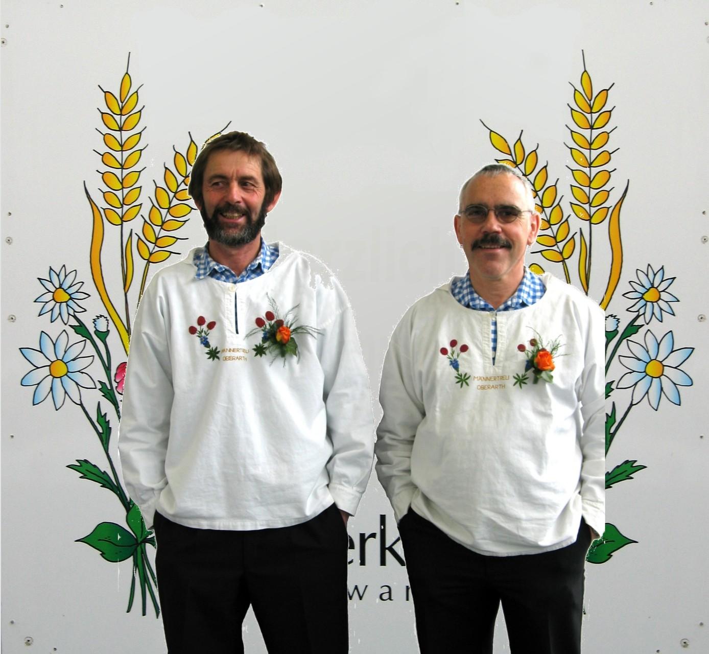 Die Brüder Paul und Felix Inderbitzin werden 2005 zu ZSJV-Veteranen