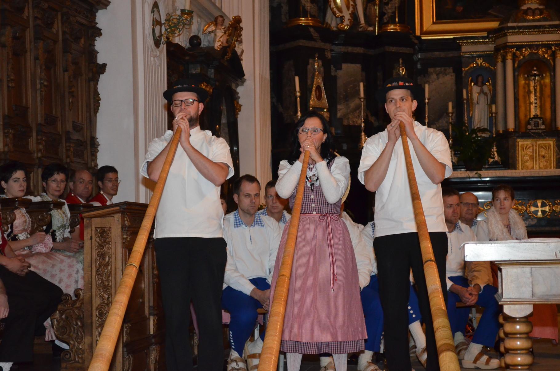 Auch das Alphorntrio Imlig aus Goldau beeindruckte die grosse Zuhörerschar