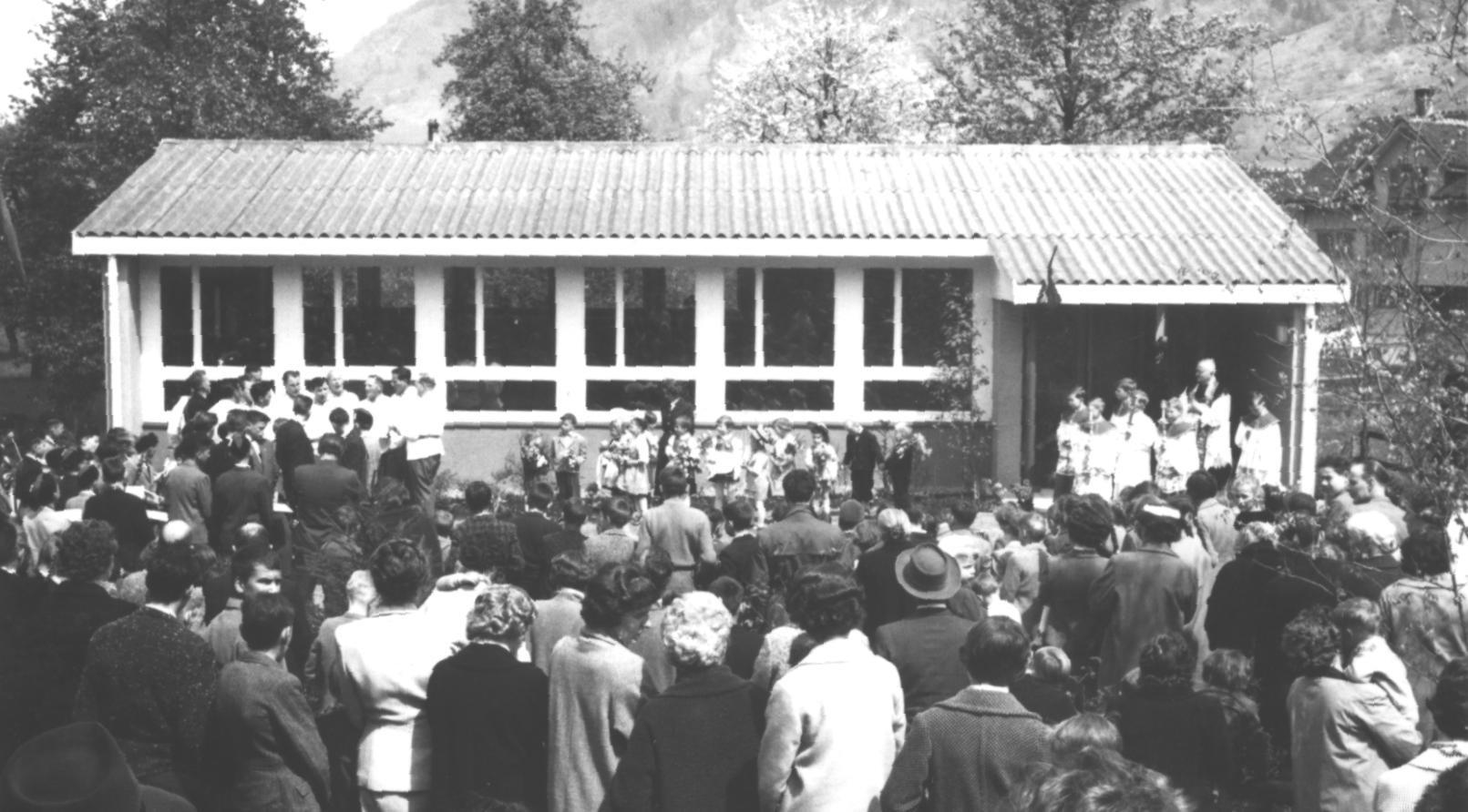 Einweihung des neuen Kindergartens 1959