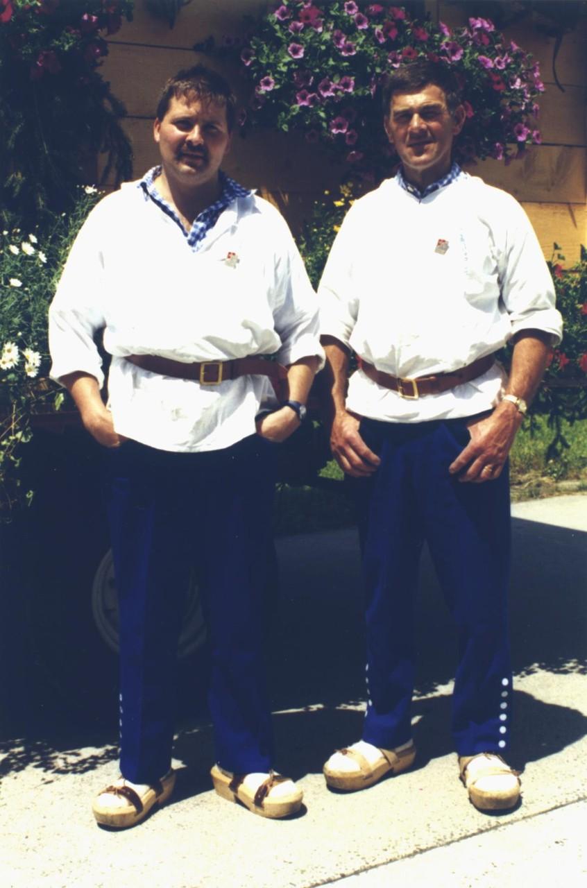 1995: Dirigent Urs Grossmann und Präsident Jörg Kenel
