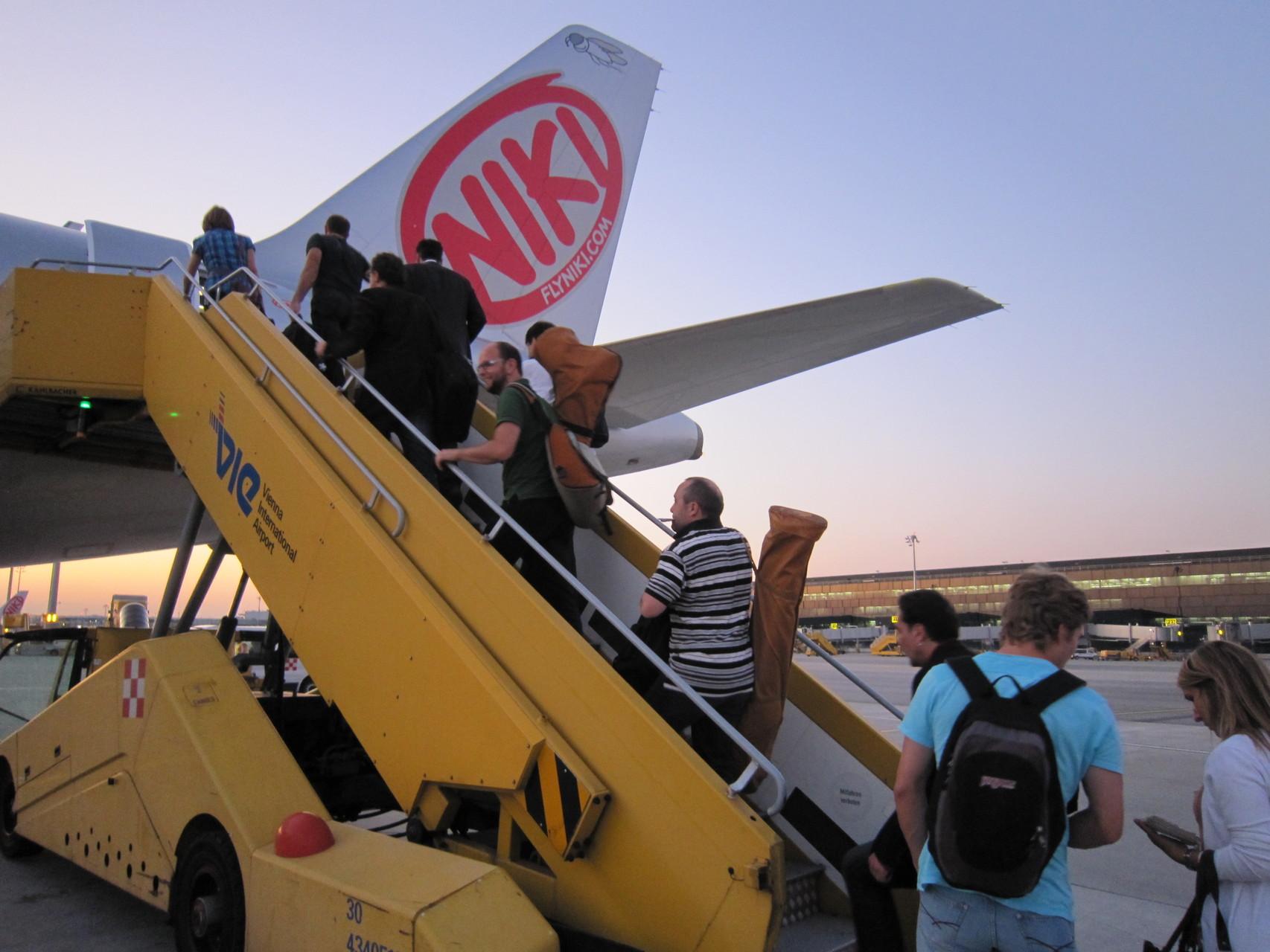 ... und schon heisst es wieder den Heimflug mit Nicki-Air antreten