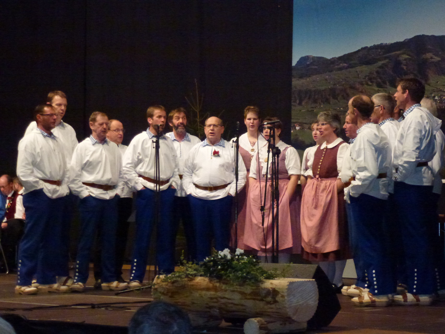"""... vor ca. 6 - 700 Delegierten mit dem Lied """"Alpenacht"""" aufzutreten"""
