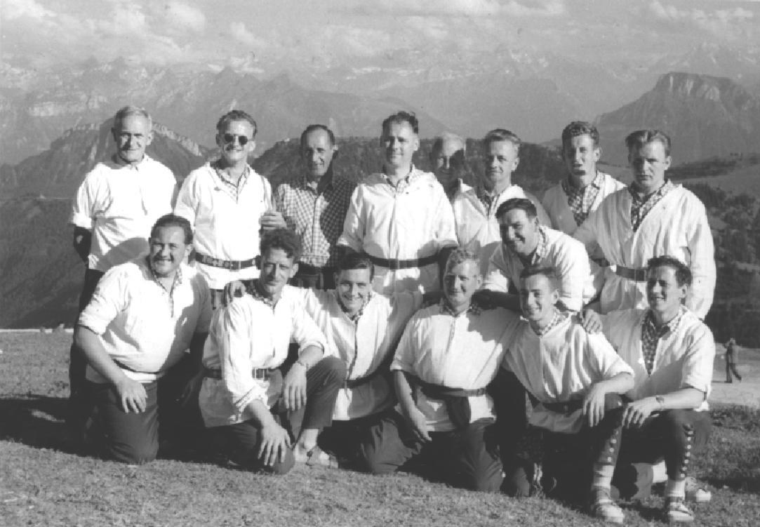 Der Klub am Rigi-Schwingfest 1954