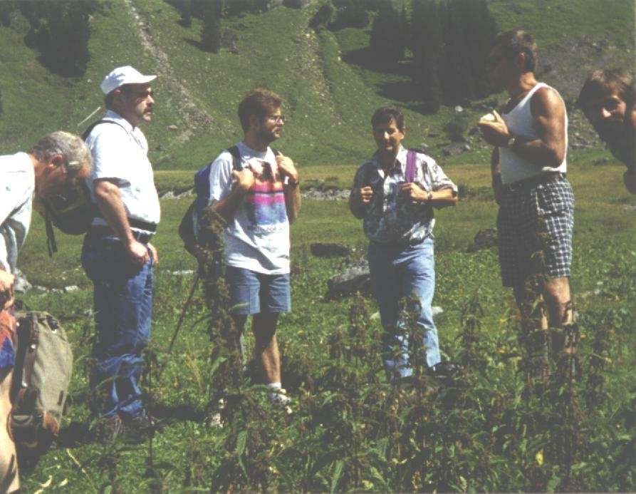 Die wackeren Wanderer auf Glattalp 1994