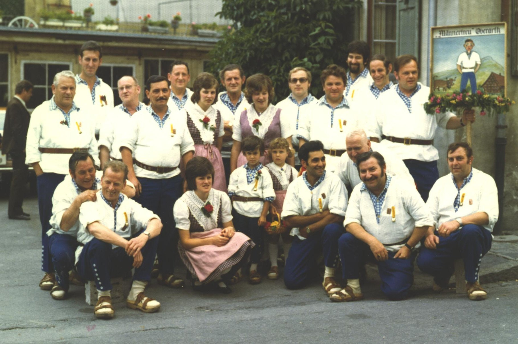 Der Klub am ZSJV-Jodlerfest 1974 in Altdorf