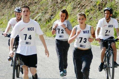 Clara, Fabrice, Justine, Matthieu et Océane - Jeux Internationaux de la Jeunesse 2012 à Nice