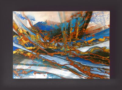 Eruption, Acryl, 2017,  80x60