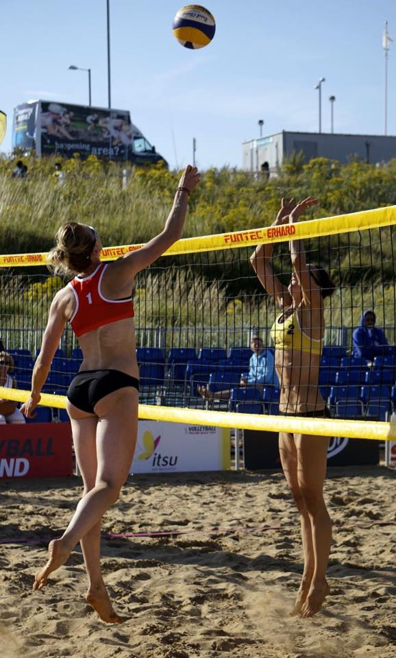 Mel Coutts & Lynne Beattie Beach Volleyball Scotland UK Commonwealth Games Gold Coast 2018