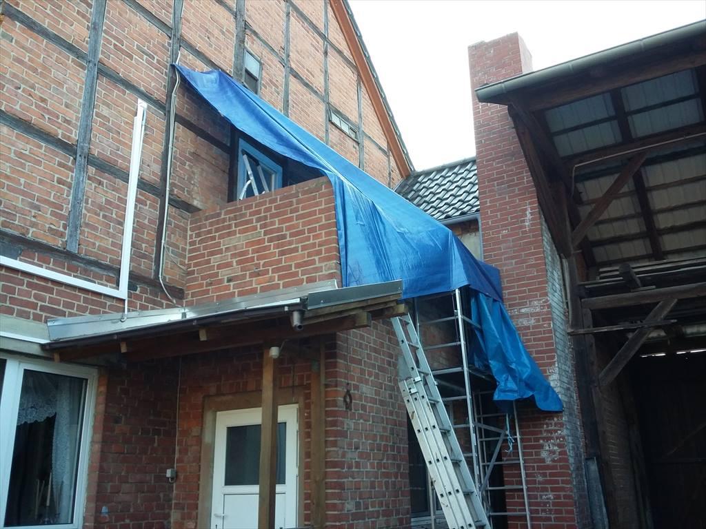 Jetzt Baustelle vor Regen schützen