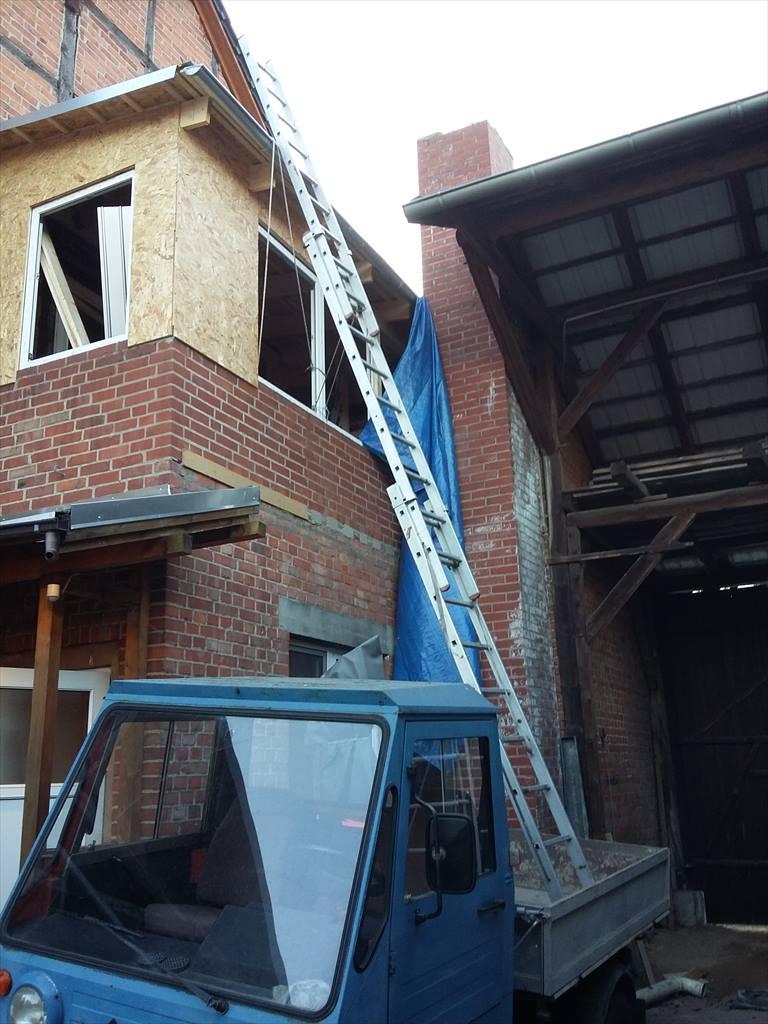 Die Leiter kann nicht wegrutschen