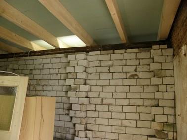 gemauerter Unterzug mit Abstandshalter