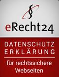 Datenschutz-Siegel von eRecht24