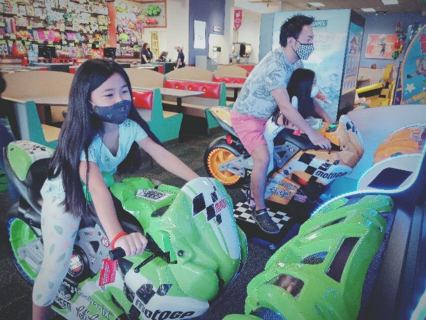 バイクレースの親子対戦🛵