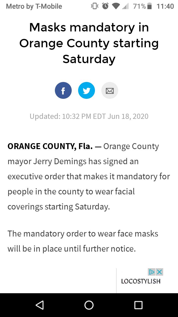 Mandatory Order