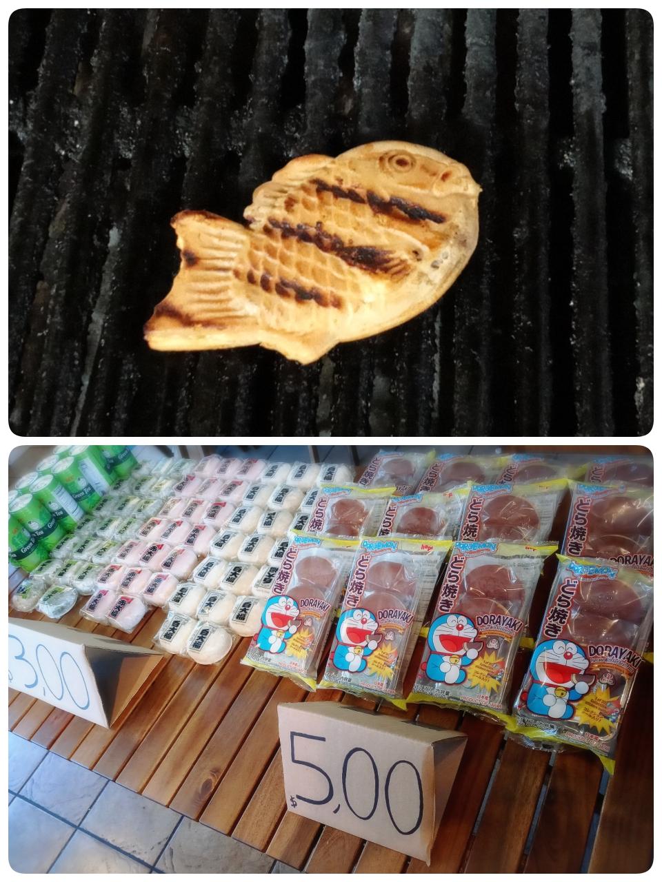 たい焼きと和菓子類