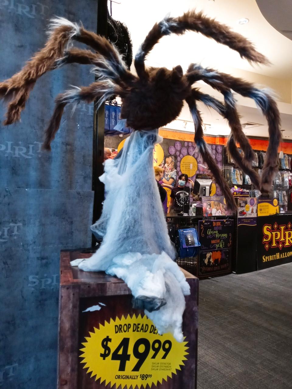 センサーで動く蜘蛛の置物
