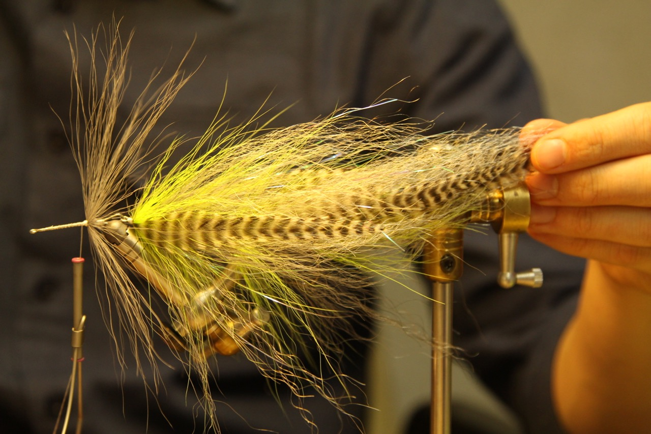 Add the second and last shank, first bucktail collar