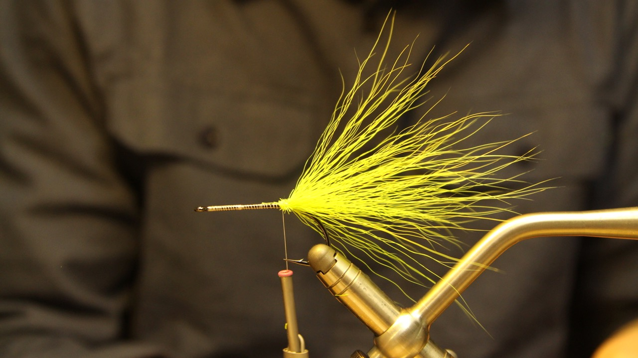 Tie in a good bunch of bucktail as a tail