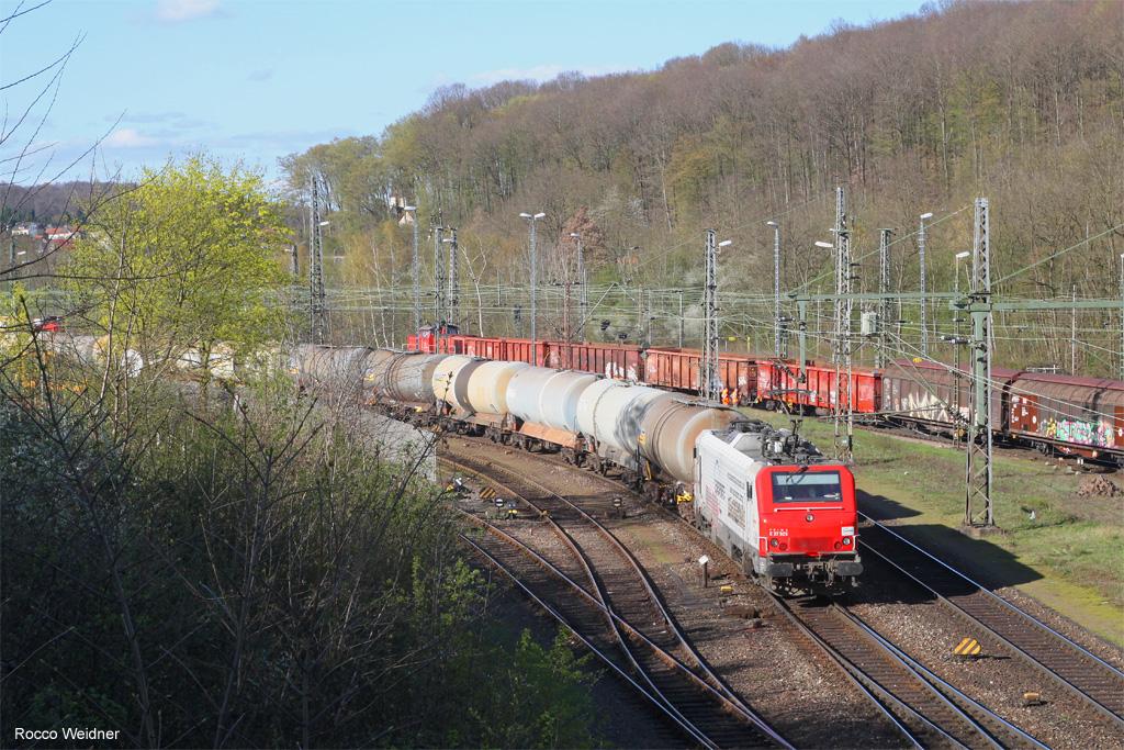 BB37505 mit DGS 44422 Saarbrücken Rbf Nord - Forbach/FR (Sdl.), 11.04.2018