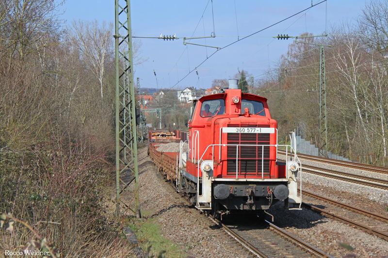 360 577 mit DGS 95414 Homburg(Saar) Hbf - Brebach (Sdl.), Saarbrücken 14.03.2016