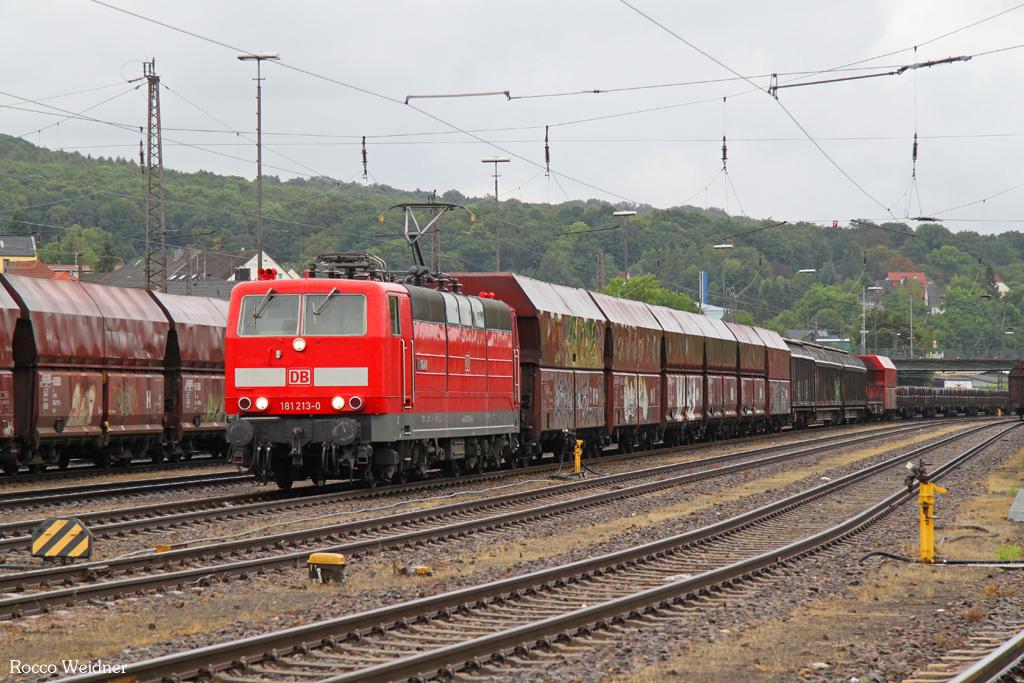181 213 mit EK 55884 Neunkirchen(Saar) Hbf - Saarbrücken Rbf Nord, 20.08.2016