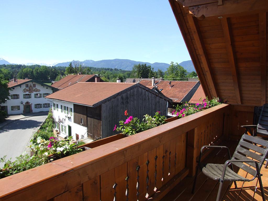 Blick vom Balkon nach Westen über Seehausen