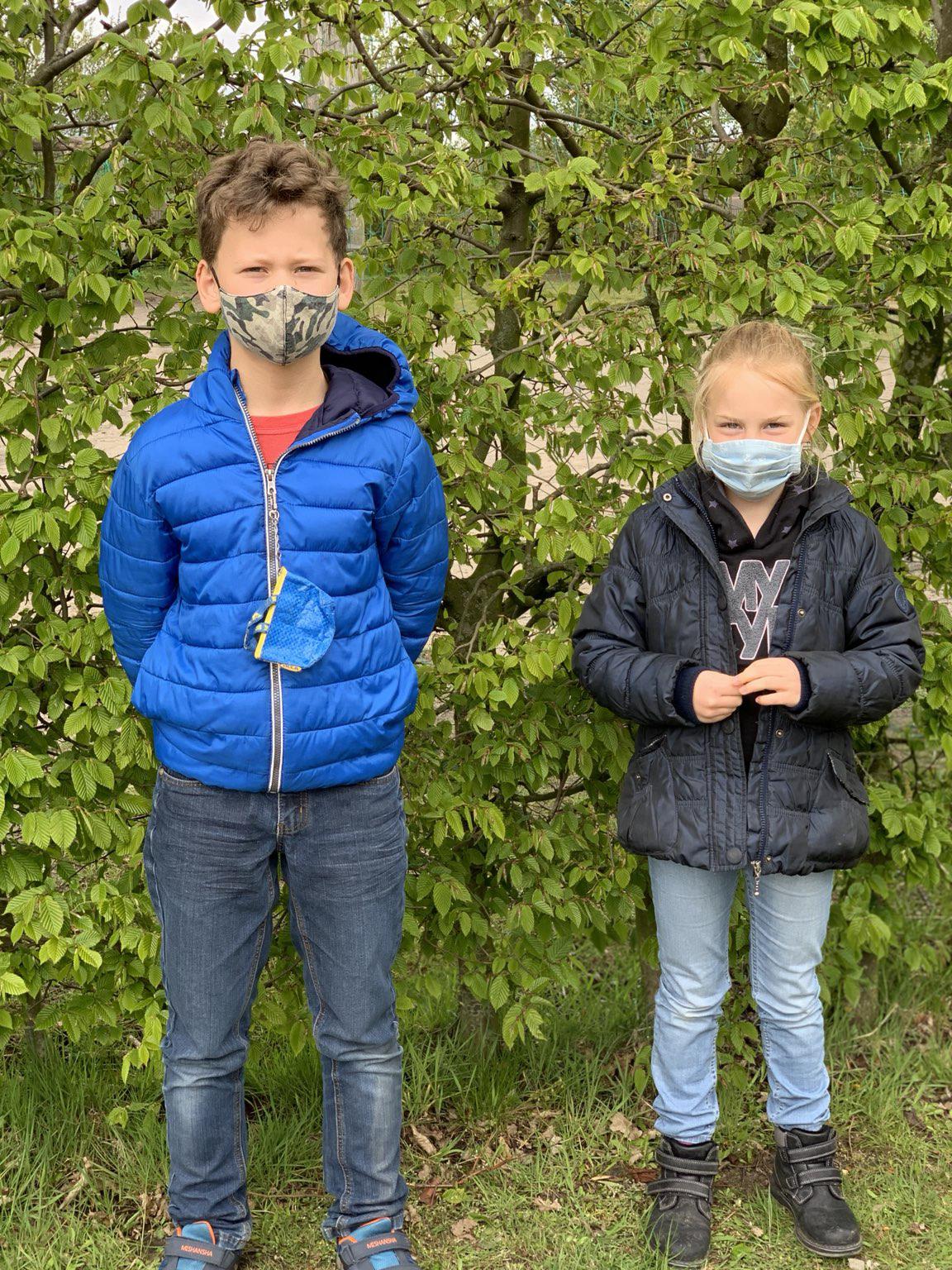 Schülersprecher Moritz Linthe und Schülersprecherin Kristina Hüser