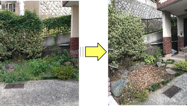 お庭周りだけの少ない面積の草むしりにもご対応 お気軽に草むしり依頼