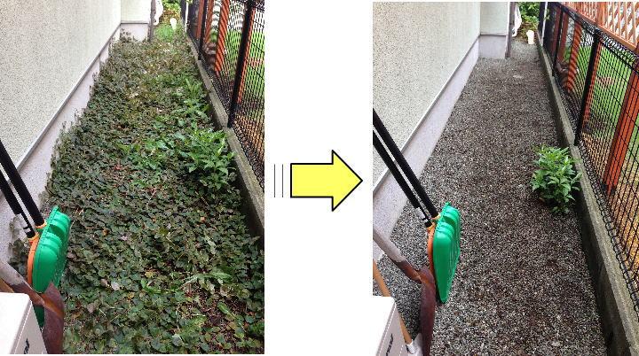 横浜市個人邸お庭の草むしり作業依頼 見違えるほど綺麗に