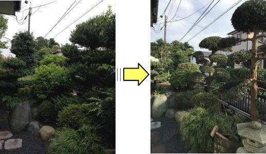 植木/庭木剪定でお庭が見違えるほどきれいに、満足度100%