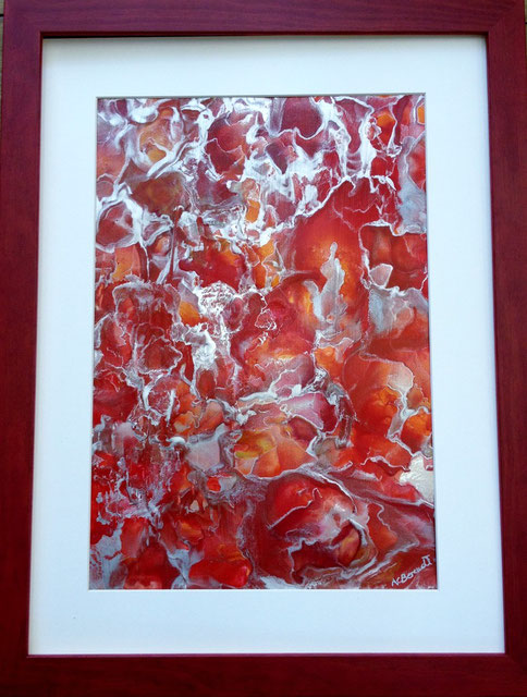 The Heat of the Moment - Encaustic Wax Painting - by Anne Berendt