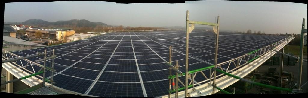 Solaranlage mit 280 Kwp