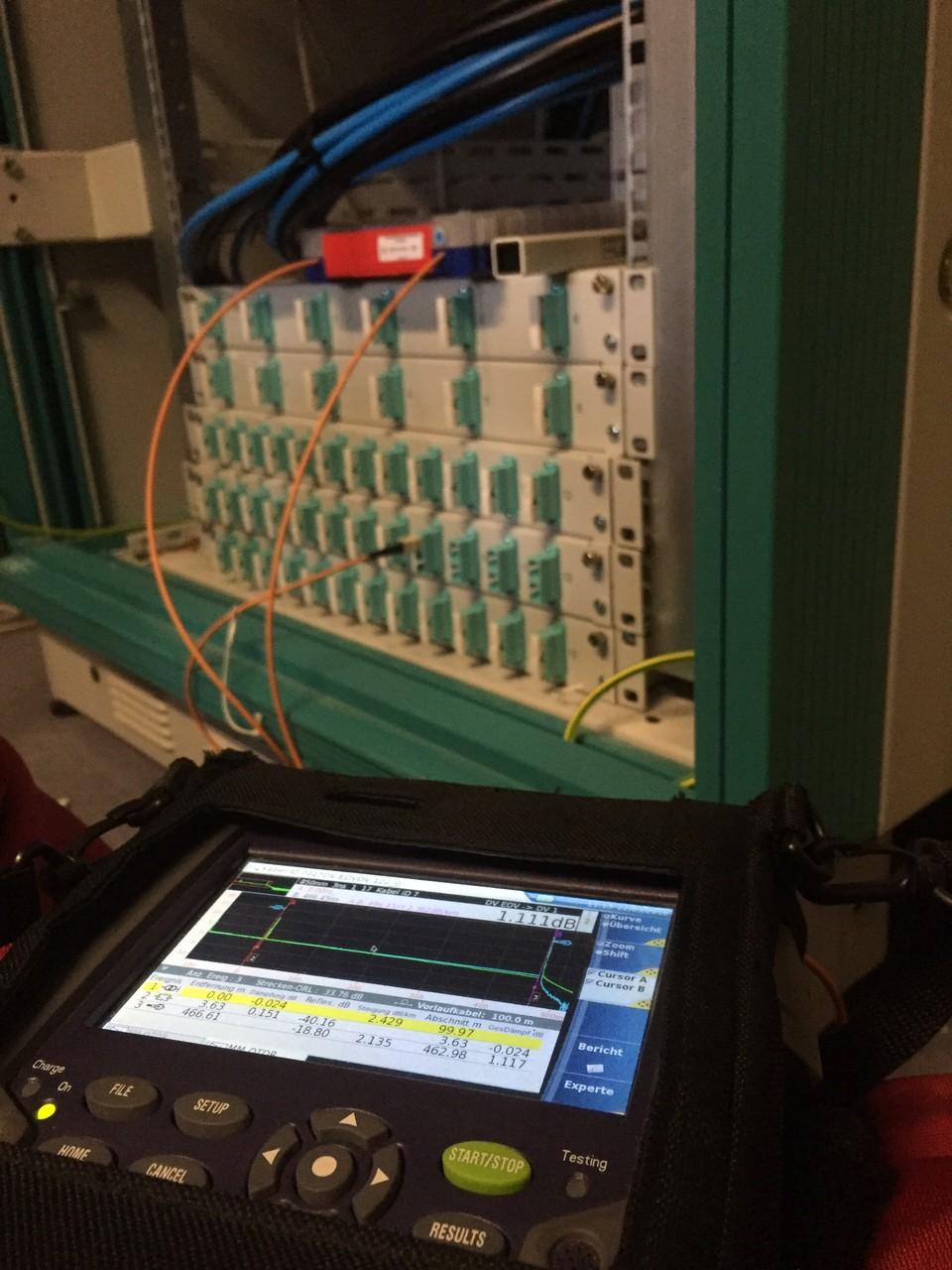 OTDR Messung nach LWL Reparatur