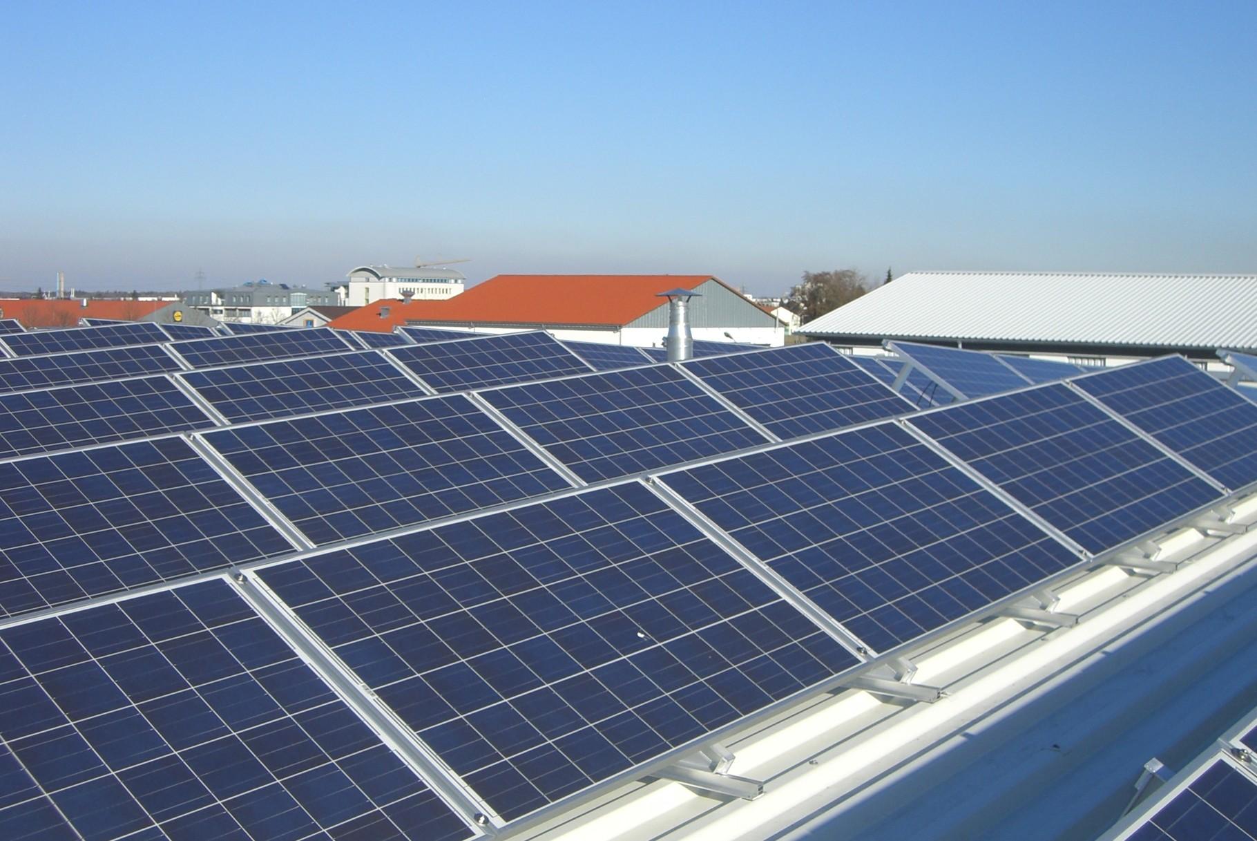 Aufdach Solaranlage
